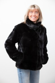 Black mink Jacket Four in One