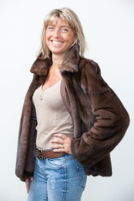 Full Skins Brown Mink Jacket