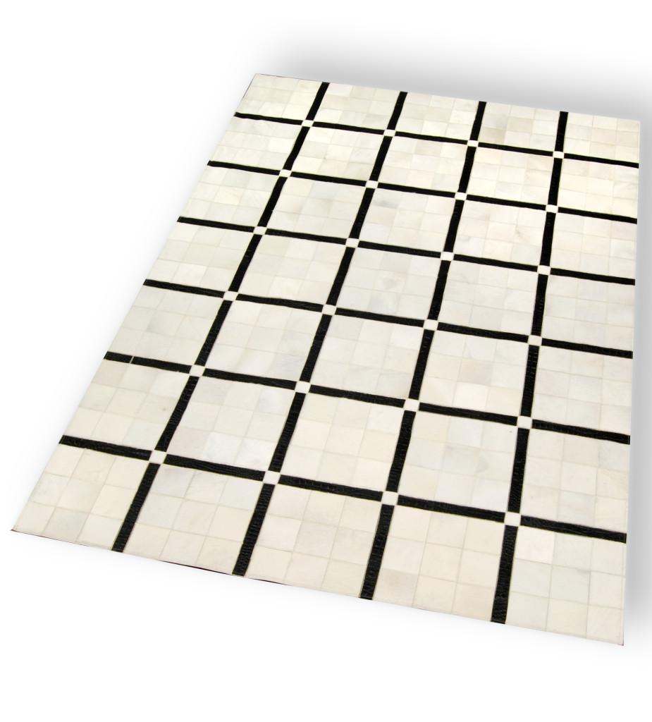 tapis black & white peau de vache fourrure-privee.com