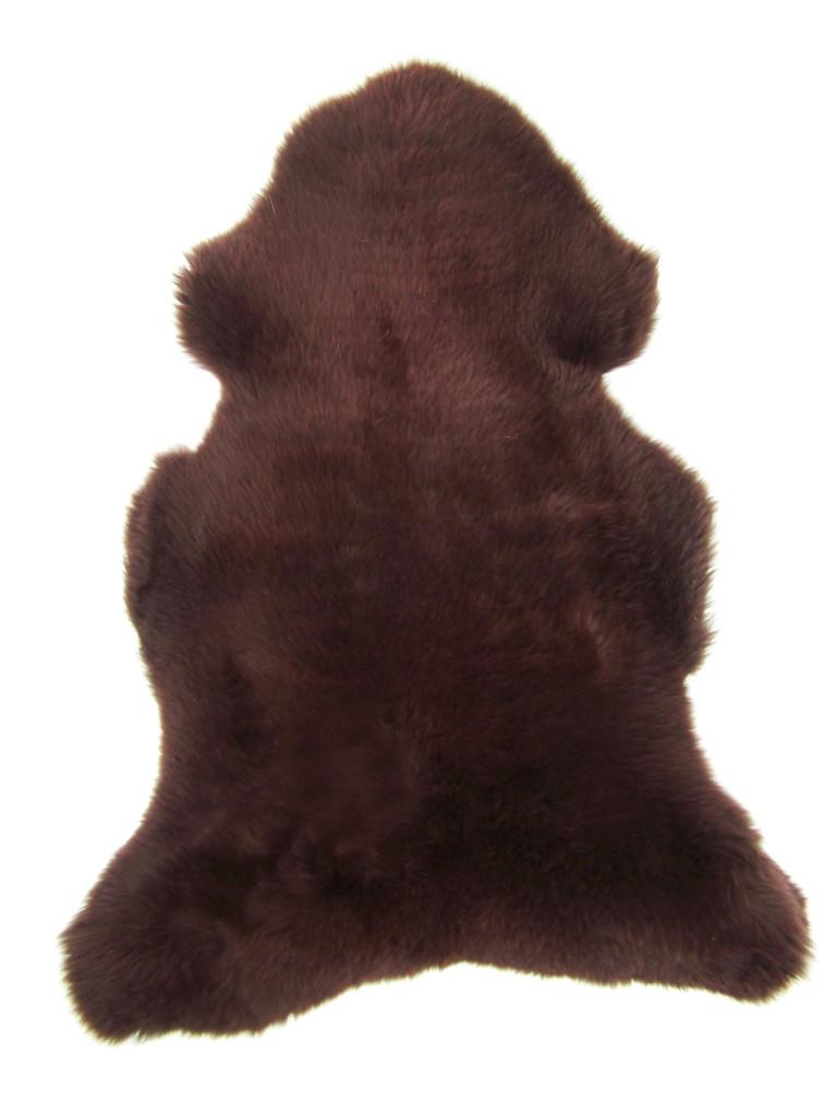peau de mouton teintée MARRON