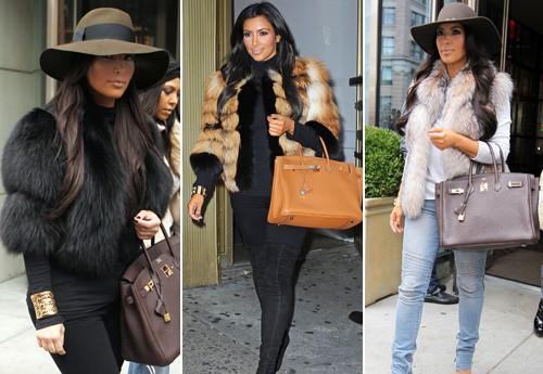 Kim Kardashian fourrure