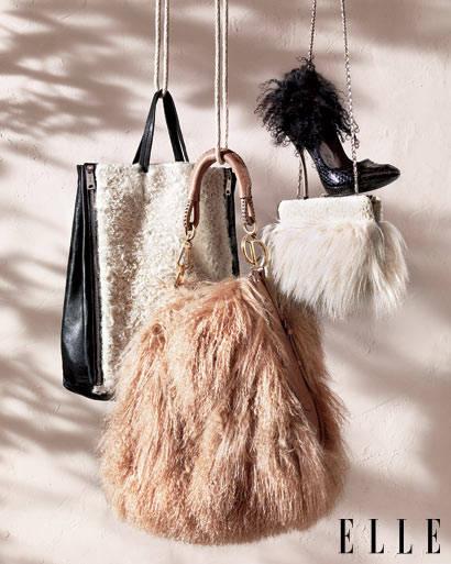 accessoires de mode en fourrure