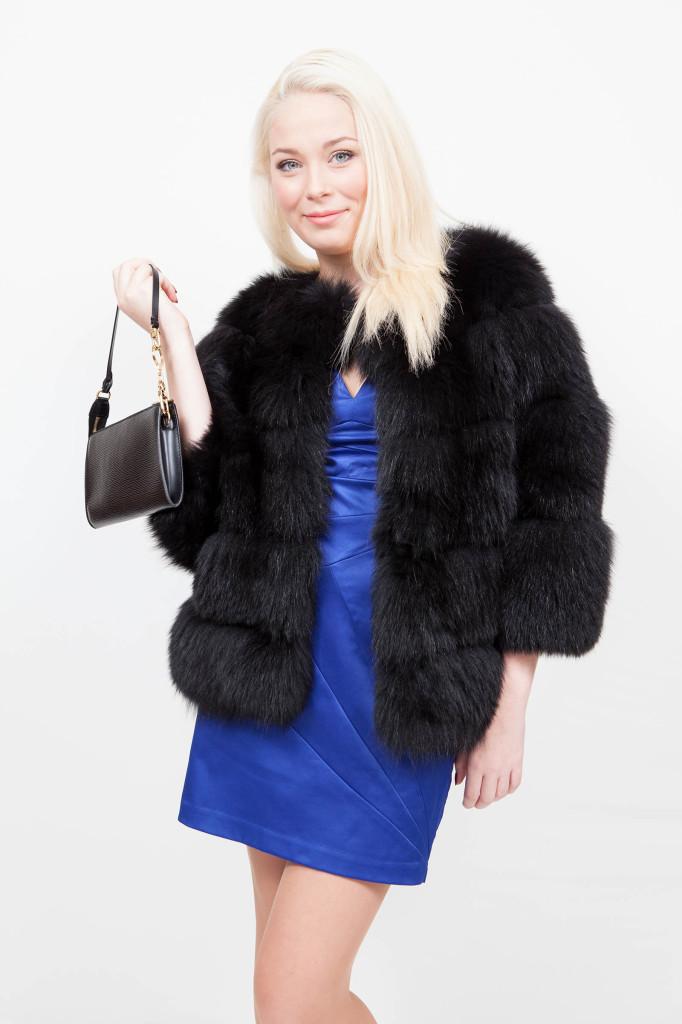 Veste de renard noir