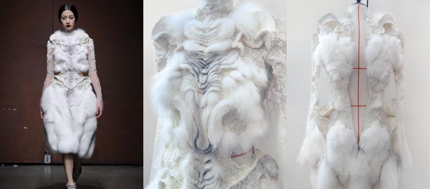 Yiqing Yin, haute couture, technique Marion Chopineau