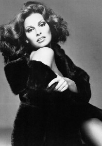 Campagne Blackglama en 1975 avec Raquel Welch