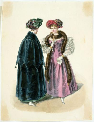 Gravure de mode vers la fin du fin XVII° siècle