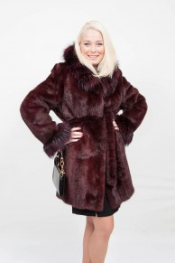 (Sold) Violet Mink and Fox Coat
