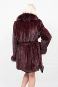 (Sold) Violet Mink and Fox Coat
