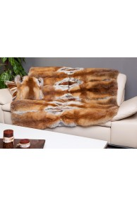 Red Fox fur Blanket or Bed Throw