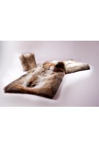 Blanket or Beadspread in Coyote Fur