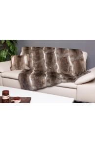 Bedspread or Blanket in Long Hair Rabbit Fur