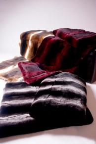 Blanket or Bedspread in Rex Rabbit  Fur