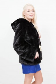 (RESERVED) Long Black Mink Jacket