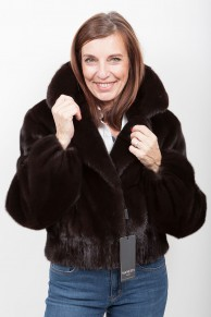 (SOLD) Brown Mink Jacket