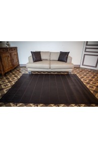 "Brown Leather Carpet type ""Crocodile"""