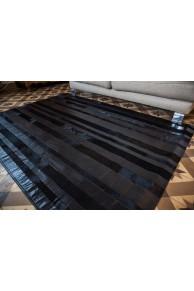 Black Leather & Cowhide Carpet
