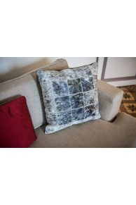 Grey & Brown Cowhide Cushion