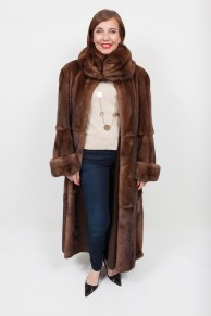 Long Brown Mink Coat