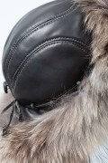 Chapka in Leather and Finn Raccoon