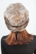 Hat in Natural Rabbit and Leather