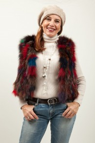 (Sold) Multicolor Fox Vest