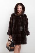 """Long Manteau de Vison Mahogany Velvet """"Romagna Furs"""""""