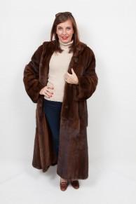 Brown Mink Coat with Hood