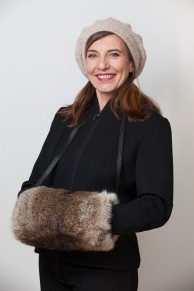Fur Hand Warmer in Natural Rabbit Fur