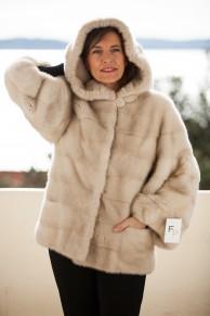 Palomino Mink Jacket with Hood