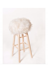 Bar Stool Icelandic Sheep Natural White
