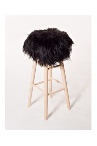 Bar Stool Icelandic Sheep Black