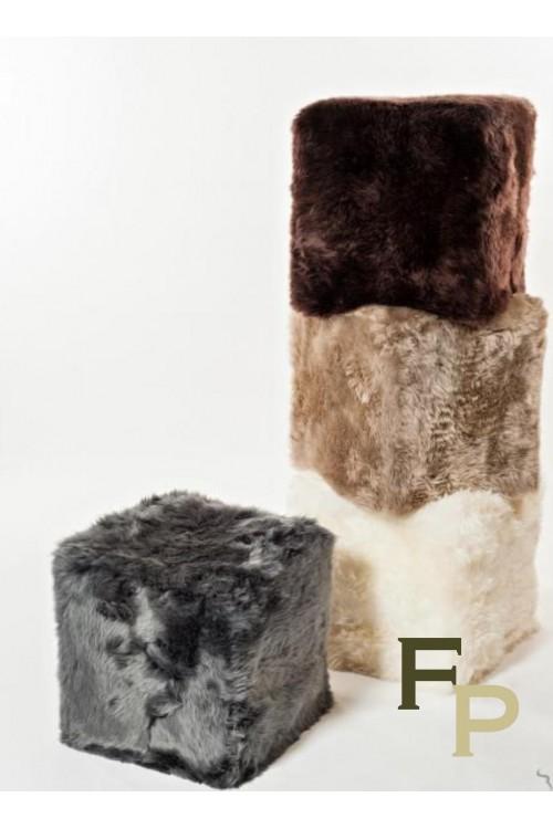 Pouf in New Zeland Sheep Fur