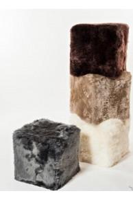 Pouf en Fourrure de Mouton de Nouvelle Zélande