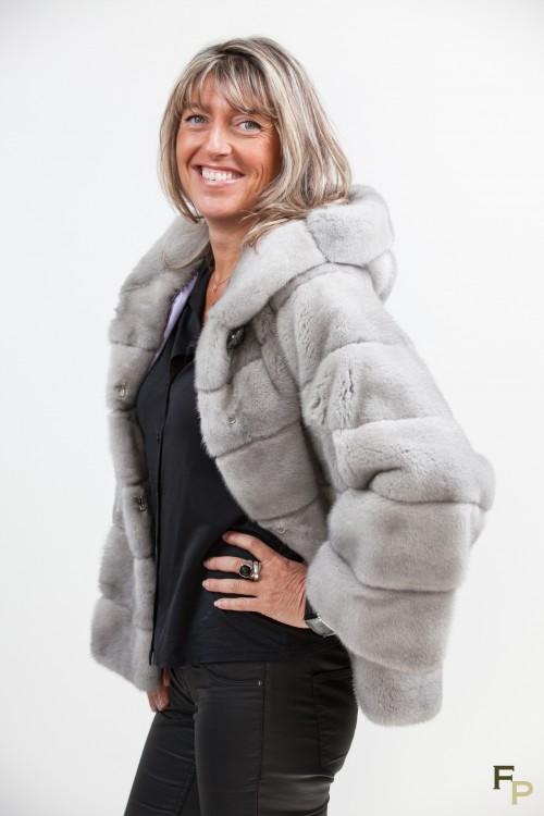 Grey Sapphire Mink Jacket