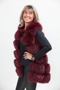 Long Bordeaux Fox Vest
