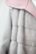 Cashemere Coat with Grey Mink Vest