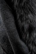 Manteau en Laine et Fourrure de Renard