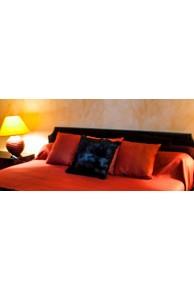 Cushion of Natural Black Rabbit Fur
