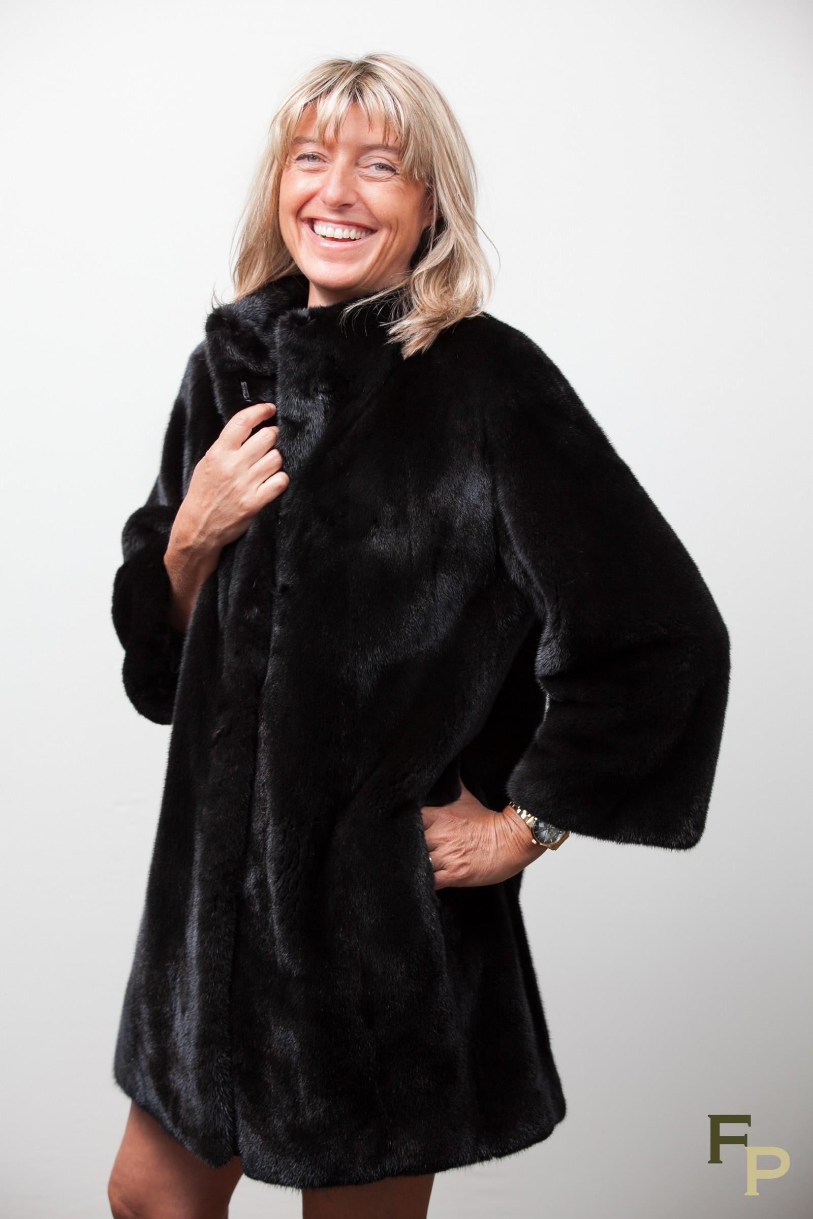 Black Blackglama Mink Coat