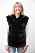 Black mink Jacket Four in One
