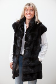 Long Black Mink Vest