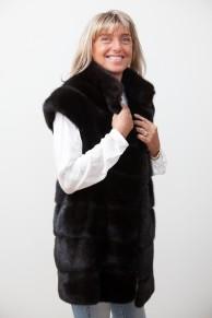 Long Black Mink Vest
