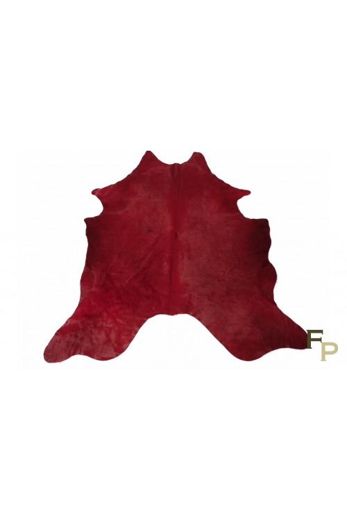 Peau de Vache Teintée Rouge