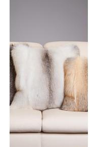 Cushion in Arctic Marble Fox Fur