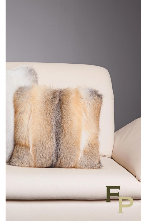 Cushion in Golden Island Fox Fur