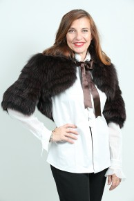 Boléro in Black and Brown Fox Fur