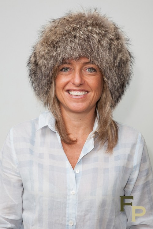 Brown Hat in Finn Raccoon and Leather