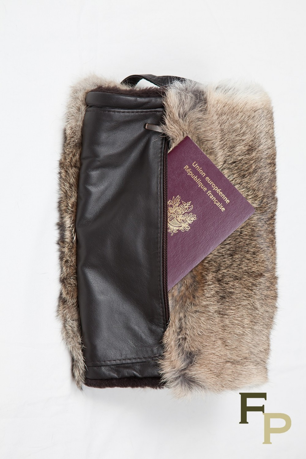 ae2b67f75 Fur Hand Warmer in Natural Rabbit Fur with Pocket