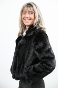 Black Mink Jacket with Crissy Collar