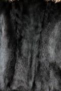 Veste de Vison Noir à Col Cranté